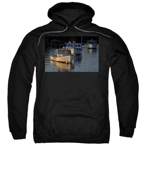 Three Boats In Maine Sweatshirt
