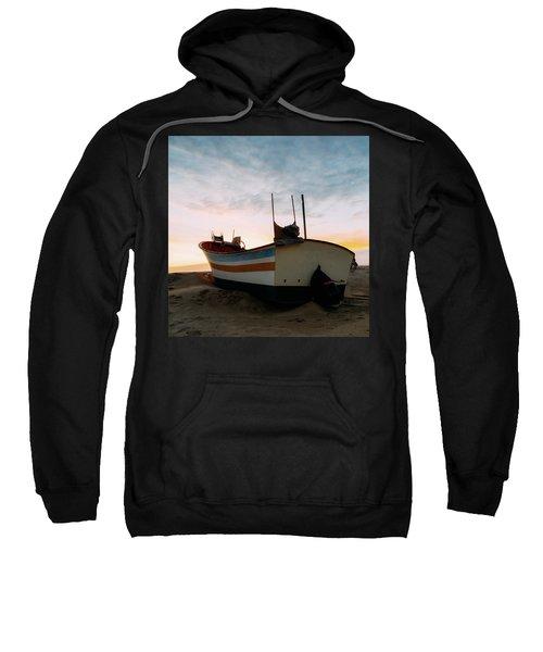 Traditional Wooden Fishing Boat Sweatshirt