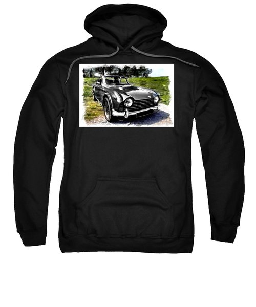 Triumph Tr5 Monochrome With Brushstrokes Sweatshirt