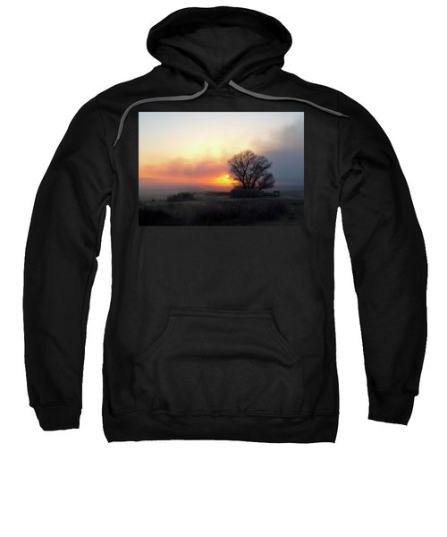 Tule Fog Sunrise  Sweatshirt