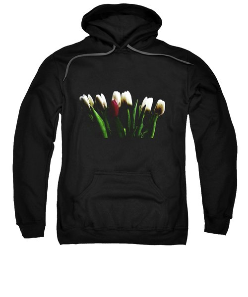 Tulips On Black Sweatshirt