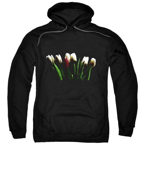 Tulips On Black Sweatshirt