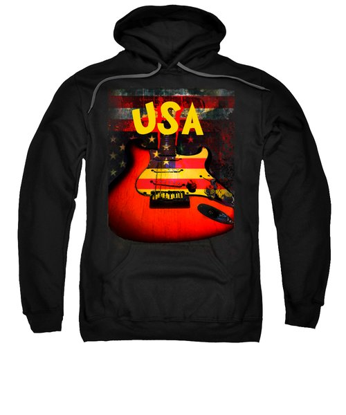 Usa Flag Guitar Purple Stars And Bars Sweatshirt