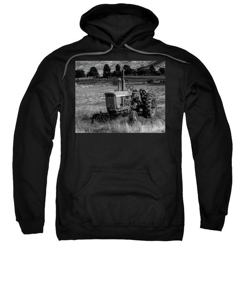 Vintage Tractor In Honeyville Bw Sweatshirt