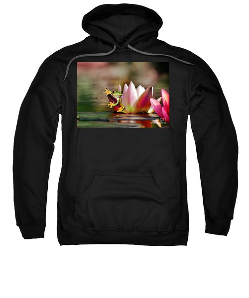 Water Lily And Frog Sweatshirt