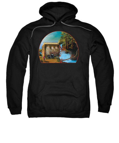 Water Wheel Overlay Sweatshirt