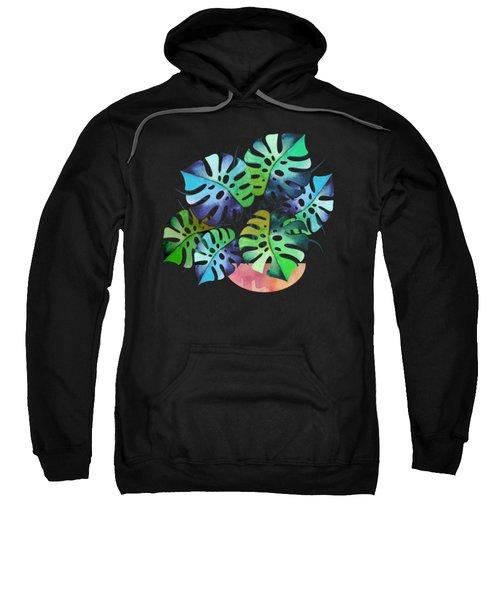 Watercolor Monstera Or One Fine Swiss Cheese Plant Sweatshirt