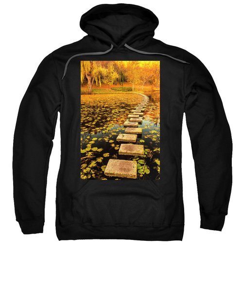 Sweatshirt featuring the photograph Way In The Lake by Evgeni Dinev