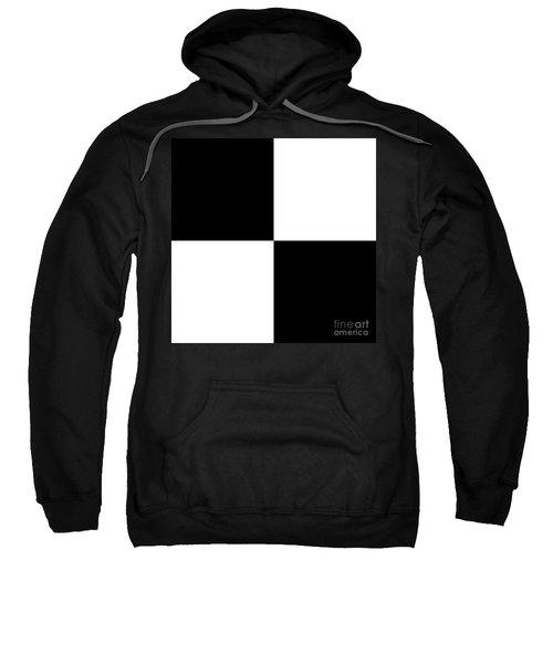 White And Black Squares - Ddh586 Sweatshirt