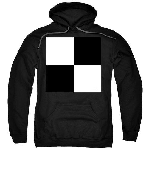 White And Black Squares - Ddh588 Sweatshirt