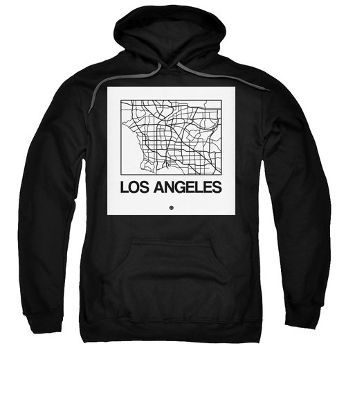 White Map Of Los Angeles Sweatshirt
