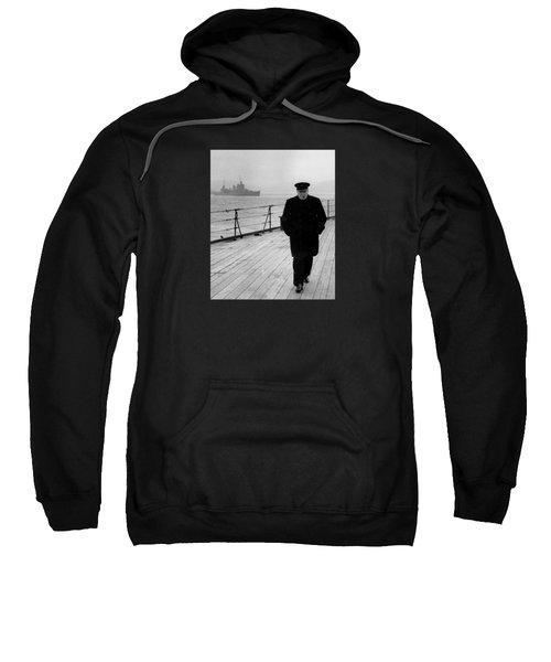 Winston Churchill At Sea Sweatshirt