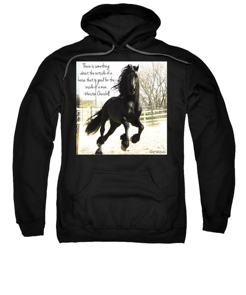 Winston Churchill Horse Quote Sweatshirt