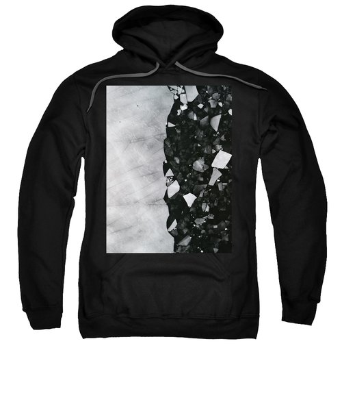 Winters Edge - Aerial Photography Sweatshirt