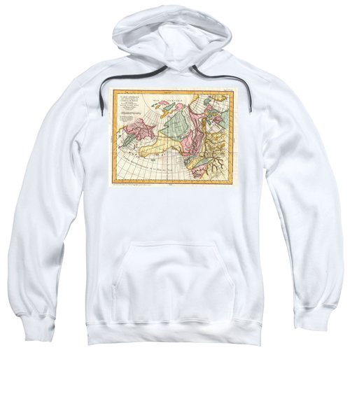 A Truly Fascinating 1772 Map Of The Northwestern Parts Of North America By Robert De Vaugondy And T Sweatshirt