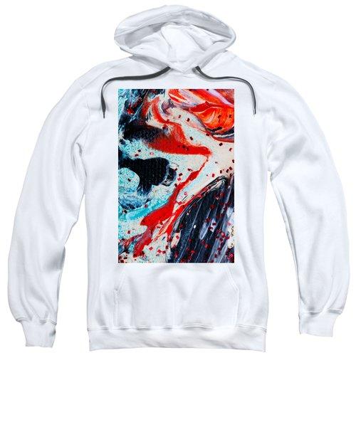 Abstract Original Artwork One Hundred Phoenixes Untitled Number Fifteen Sweatshirt
