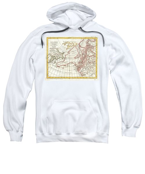 1772 Vaugondy  Diderot Map Of Alaska The Pacific Northwest And The Northwest Passage Sweatshirt
