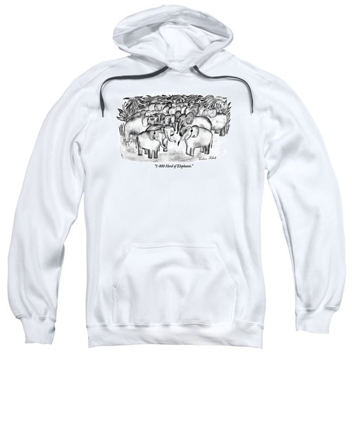 1-800 Herd Of Elephants Sweatshirt