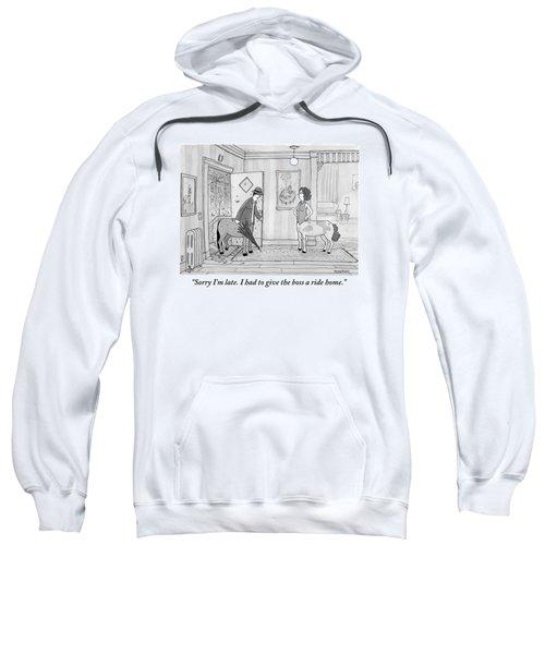 A Male Centaur Sweatshirt by Jason Patterson