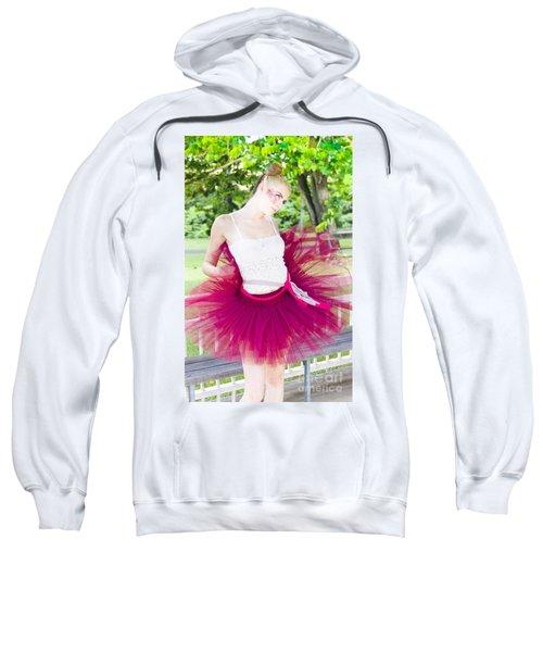 Ballerina Stretching And Warming Up Sweatshirt