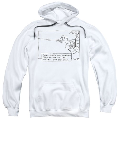 Dick Cheney And Senator Enzi Go On One Last Sweatshirt