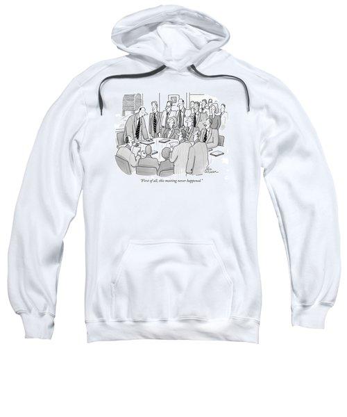 First Of All Sweatshirt