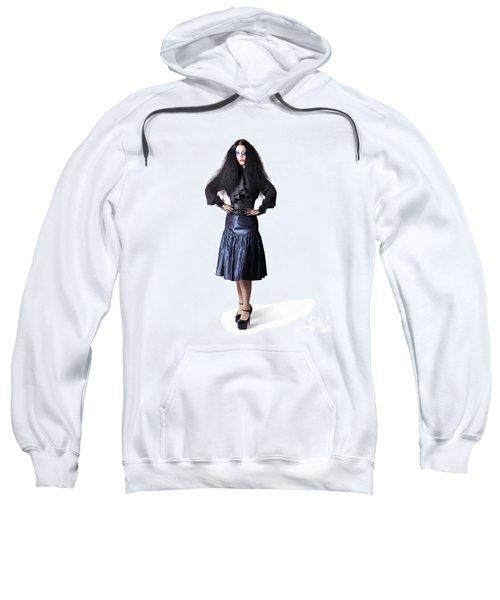 Isolated Jester Performer On White Background Sweatshirt