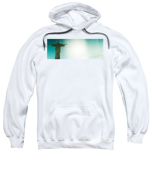 Low Angle View Of Christ The Redeemer Sweatshirt