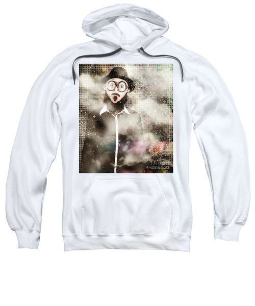 Mad Scientist With Solution To Chemical Reaction  Sweatshirt