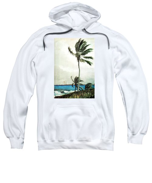 Sweatshirt featuring the painting Palm Tree Nassau by Celestial Images