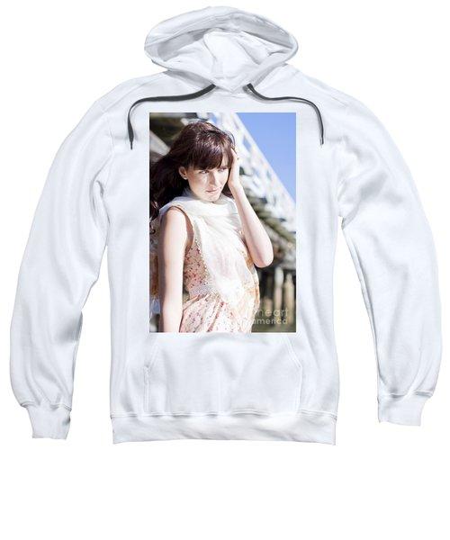 Pretty Young Fashion Model Sweatshirt