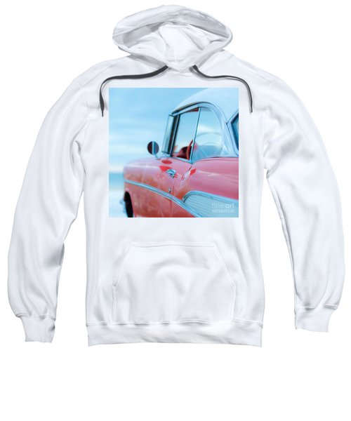 Red Chevy '57 Bel Air At The Beach Square Sweatshirt