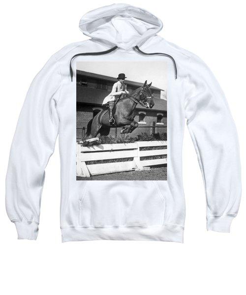 Rider Jumps At Horse Show Sweatshirt