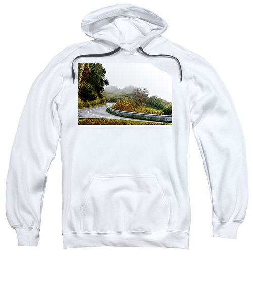 Sweatshirt featuring the photograph The Winding Road by Joseph Amaral