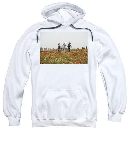 Three At The Poppies' Field... 3 Sweatshirt