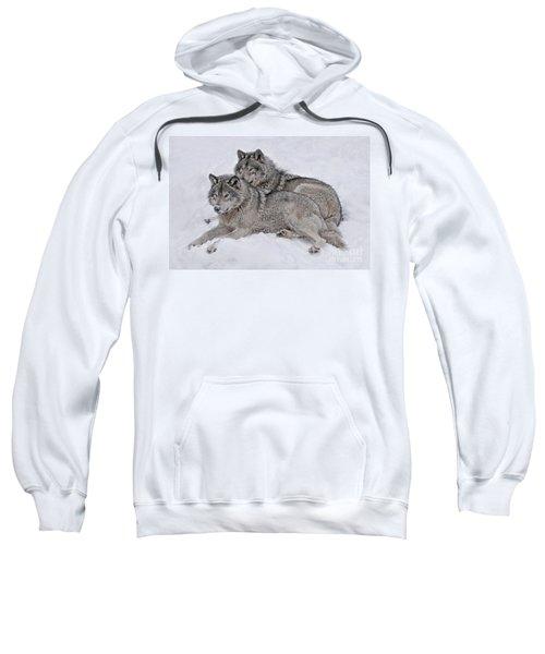 Timber Wolf Pair Sweatshirt