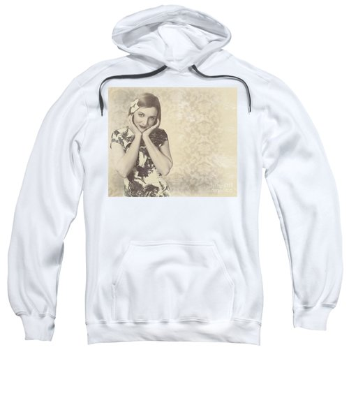 Vintage Photograph Of A Vintage Hollywood Actress Sweatshirt