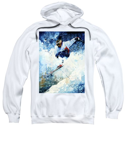 Sweatshirt featuring the painting White Magic by Hanne Lore Koehler