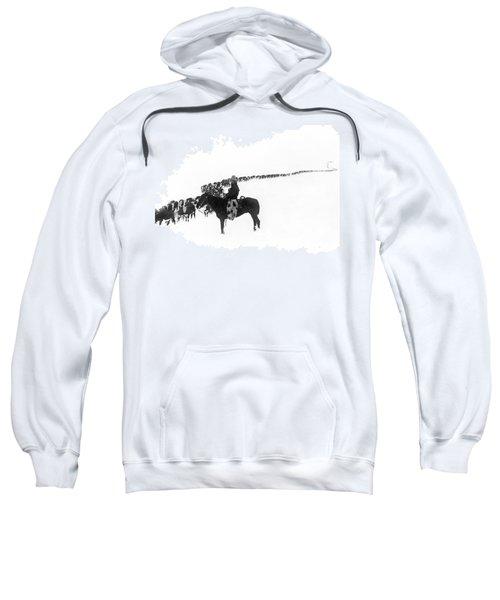 Wintertime Cattle Drive Sweatshirt