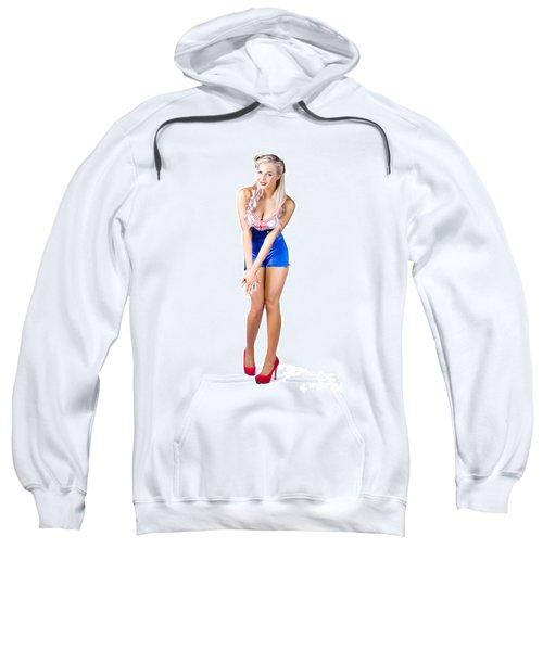 Woman In Sexy Pose Sweatshirt