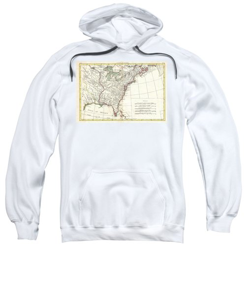 1776 Bonne Map Of Louisiana And The British Colonies In North America Sweatshirt