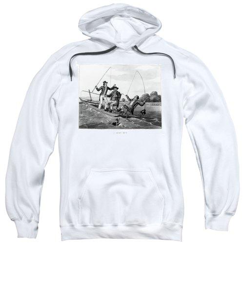 1800s Three 19th Century Men In Boat Sweatshirt