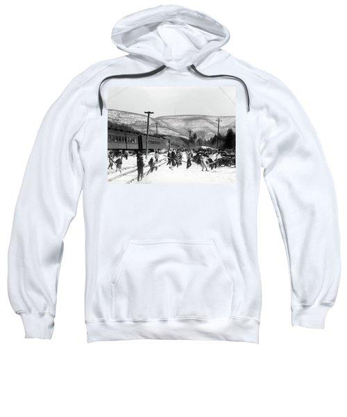 1940s Groups Of People Carrying Skiing Sweatshirt