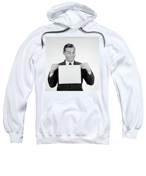 1950s 1960s Smiling Man Funny Facial Sweatshirt