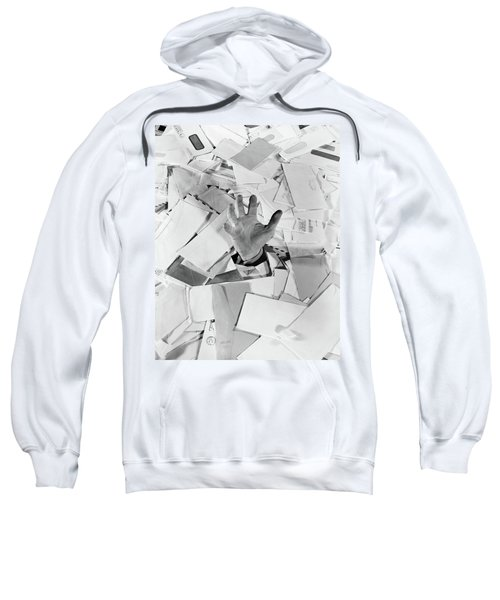 1950s Male Hand Sticking Out Of Pile Sweatshirt