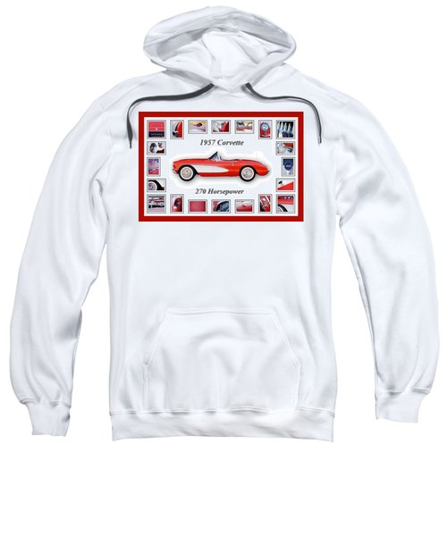 1957 Chevrolet Corvette Art Sweatshirt