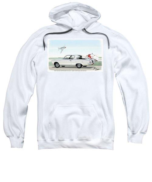 1965 Barracuda  Classic Plymouth Muscle Car Sweatshirt by John Samsen