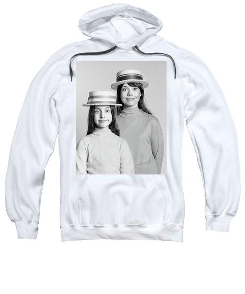 1970s Mother And Daughter Portrait Look Sweatshirt