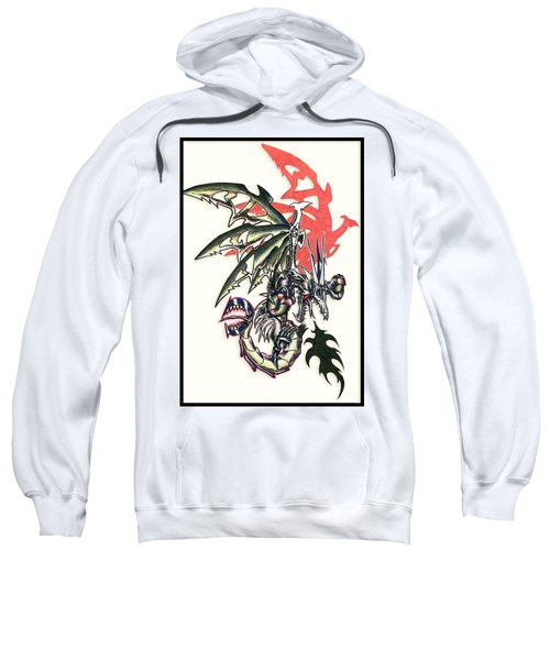 Sweatshirt featuring the painting Mech Dragon Tattoo by Shawn Dall