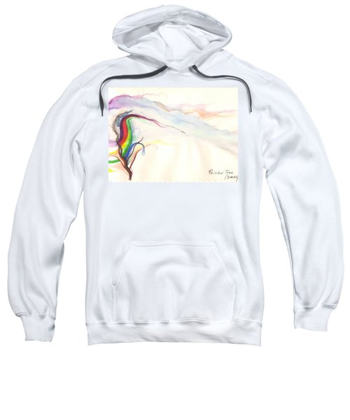 Sweatshirt featuring the painting Rainbow Tree by Rod Ismay